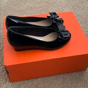 Little girl wedge dress shoe